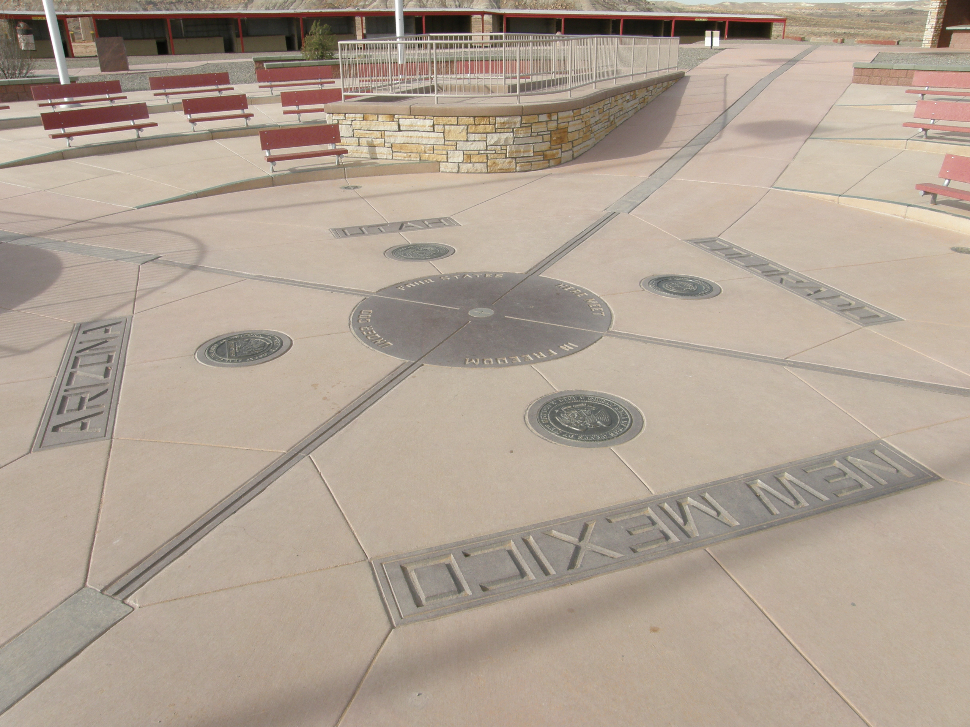 Four Corners Monument - Wikipedia on four corners region, map of arizona and 4 corners, map of west region,