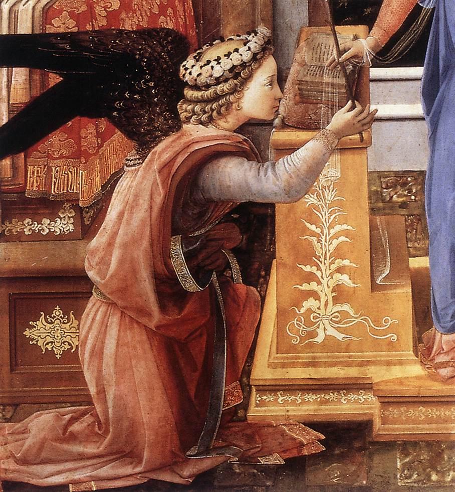 File:Fra Filippo Lippi - Annunciation with two Kneeling Donors ...