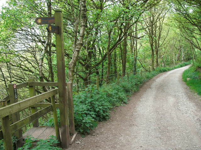 Gritstone Trail signpost at Timbersbrook - geograph.org.uk - 1868012