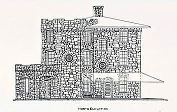 A sketch of the model fireproof farm house in ...
