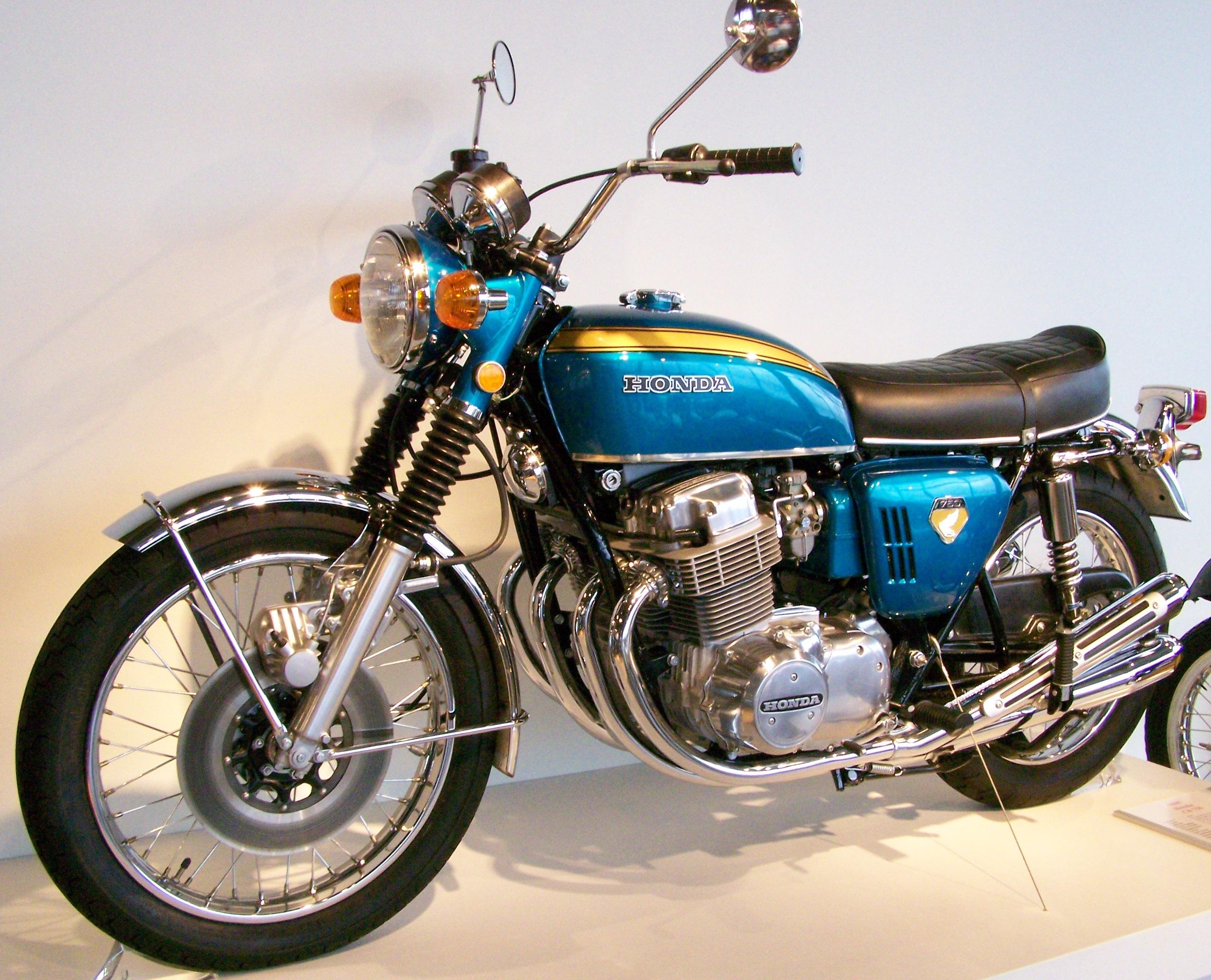 Blue Honda CB 750