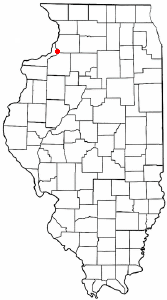 Location of Hillsdale, Illinois