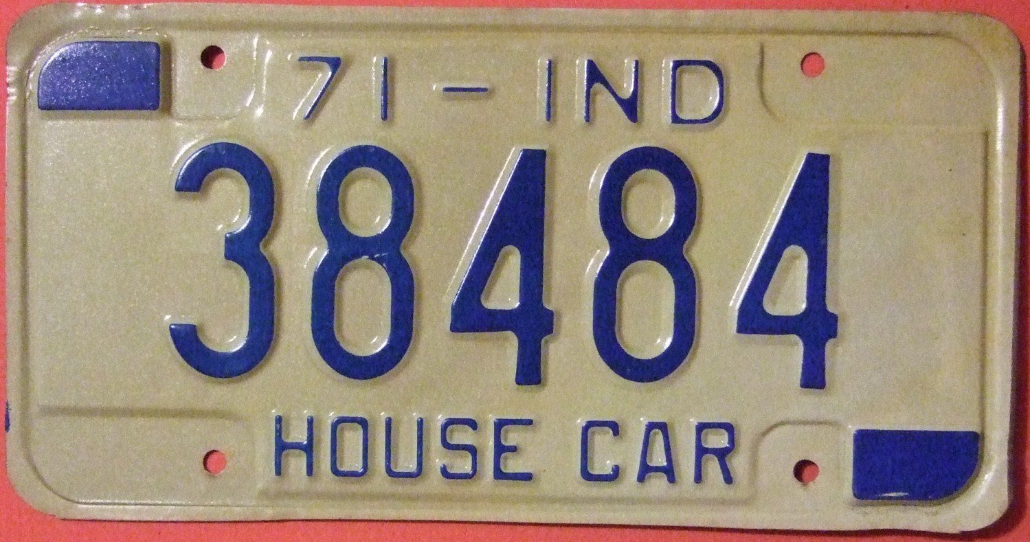 File:INDIANA 1971 -HOUSE CAR LICENSE PLATE - Flickr - woody1778a.jpg ...