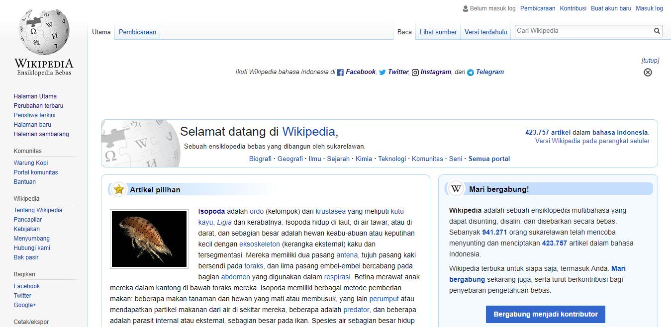 FileIndonesian Wikipedia Main Page screenshot with Facebook ...