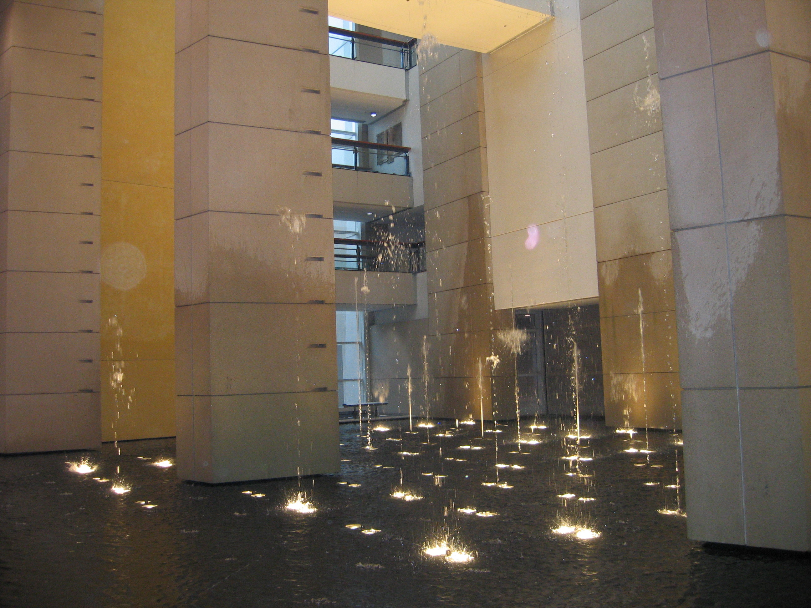 File:Indoor Water Fountain With Lighting