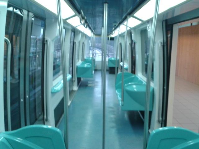 Lille, franciaország, automata metró, VAL, VAL 208