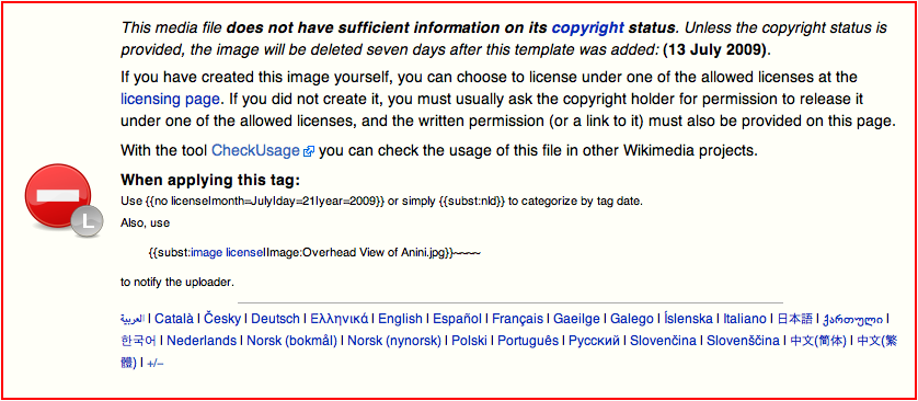 file insufficient copyright wikimedia