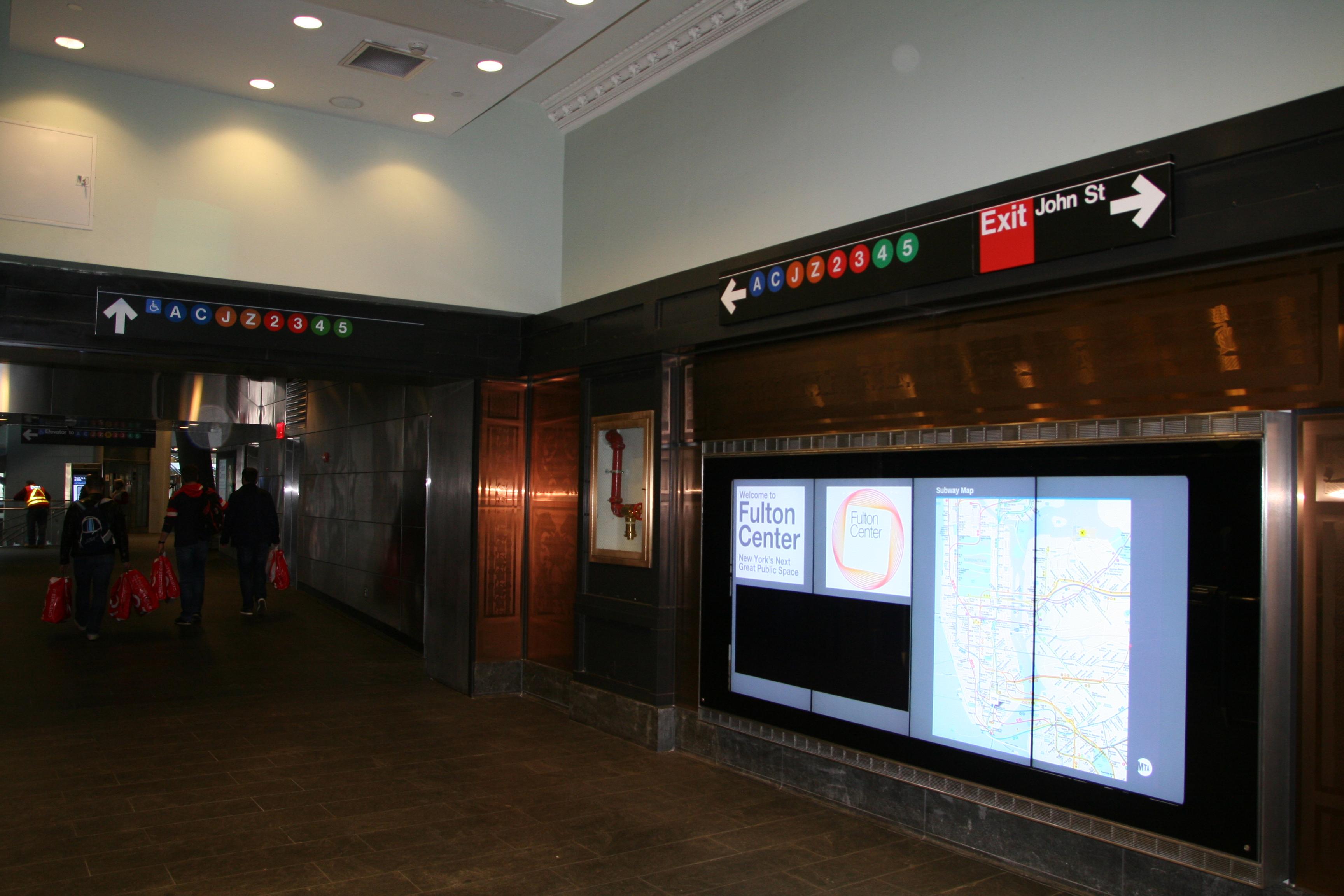 File Interactive Subway Map At Fulton Center 2014 Jpg Wikimedia