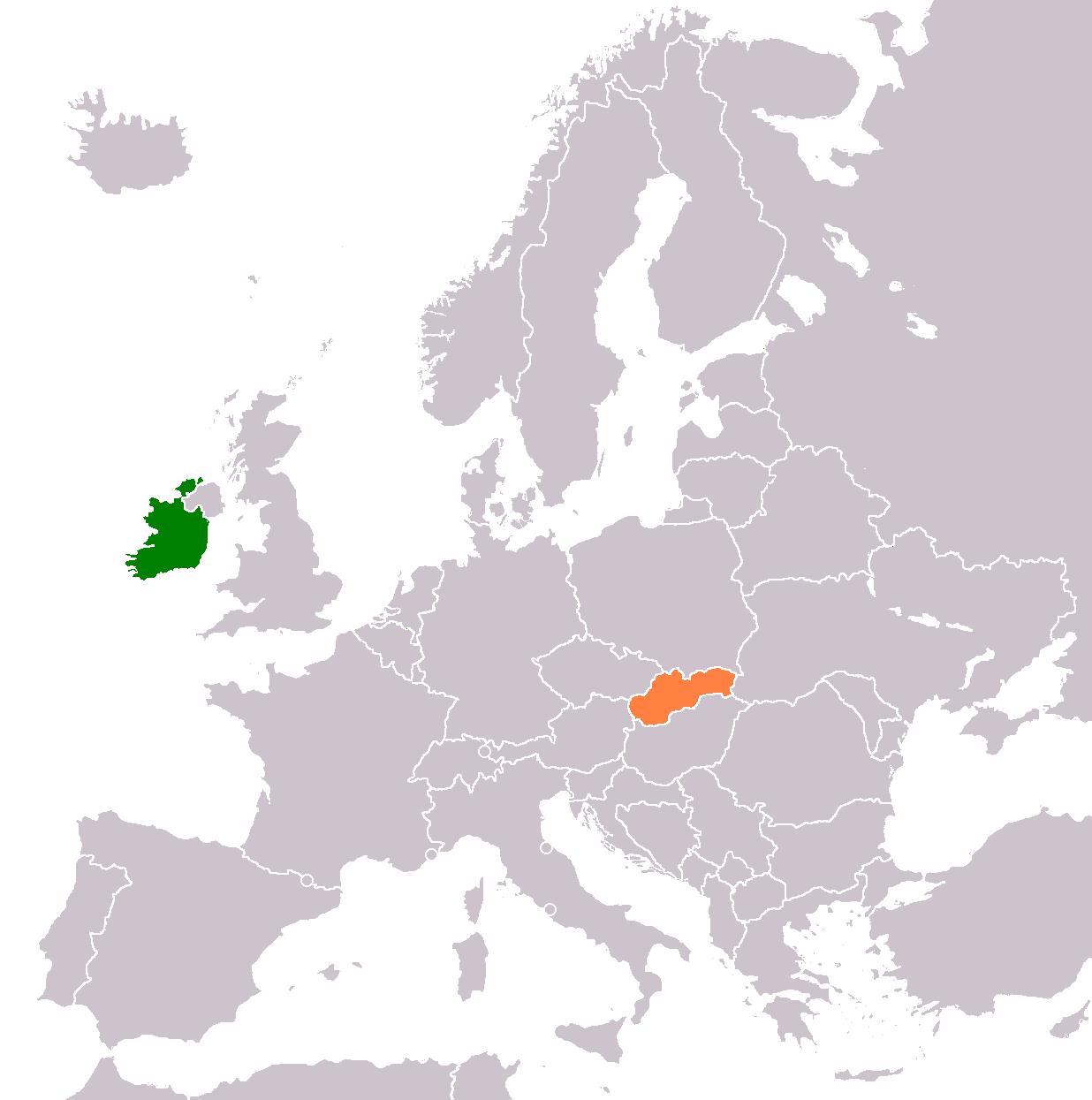 Slovakia World Map Location