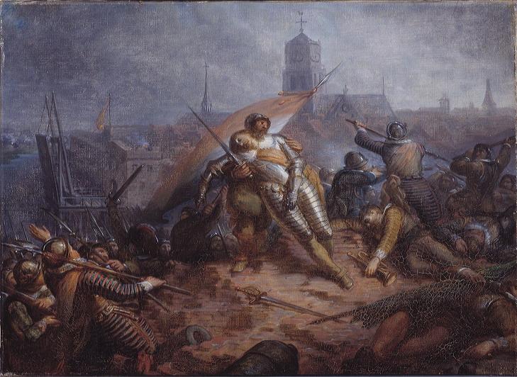 Jacobus van Dijck - Anno 1627. Willem van Nassau sneuvelt bij Grol - SA 4884 - Amsterdam Museum