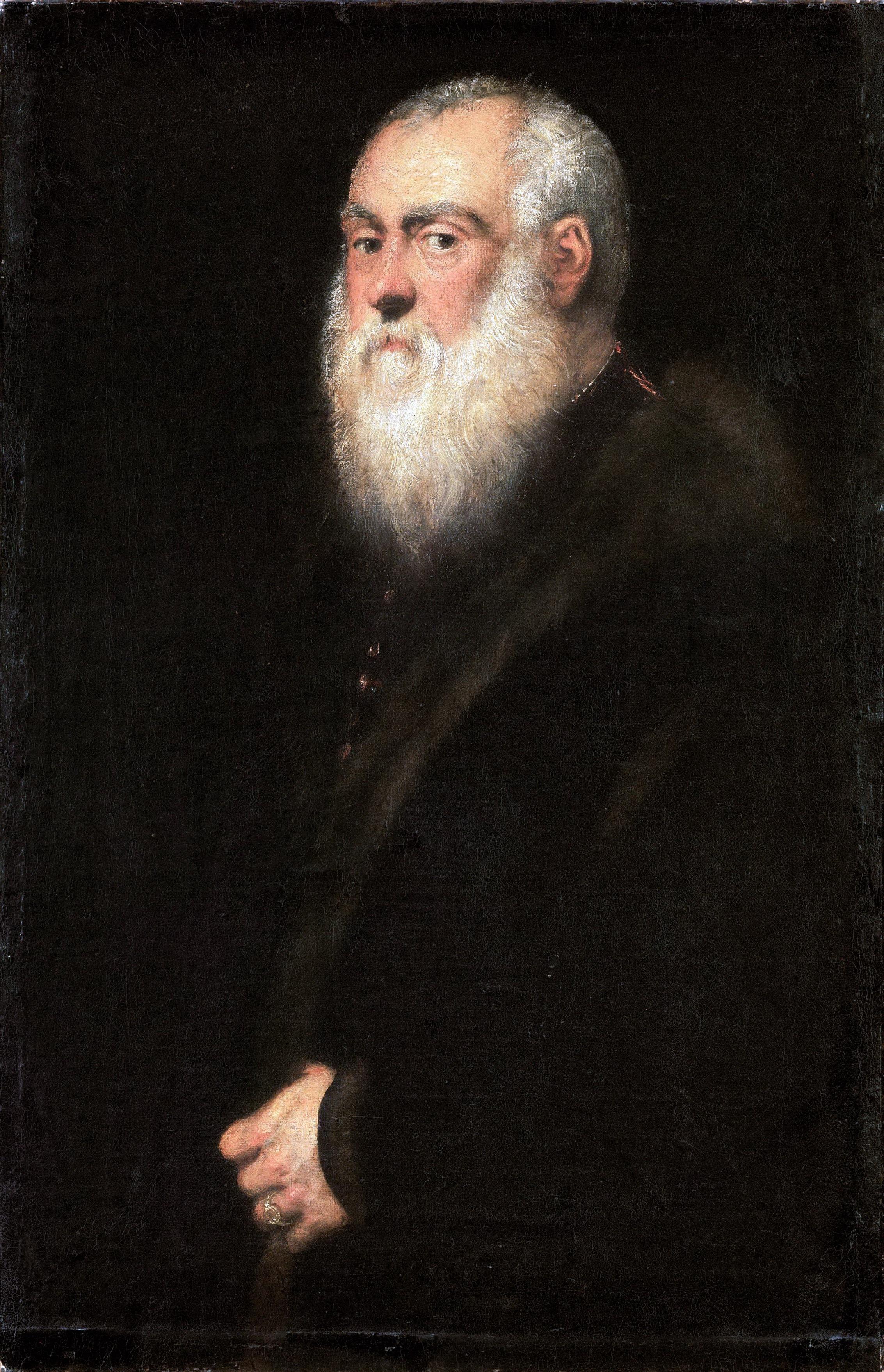 Tintoretto: Valkopartainen mies (n. 1545)