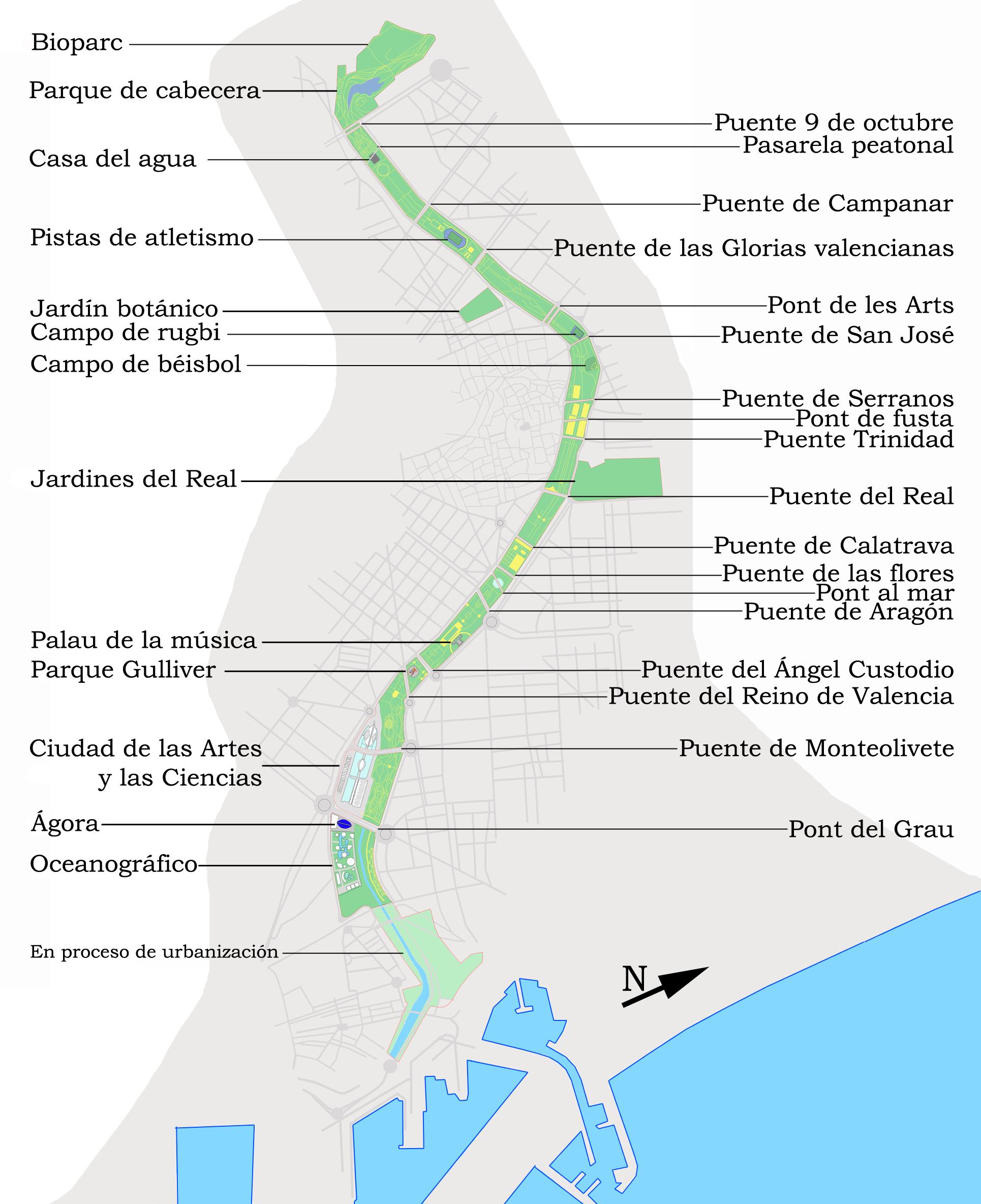 File jard n del wikimedia commons - Jardin del turia valencia ...