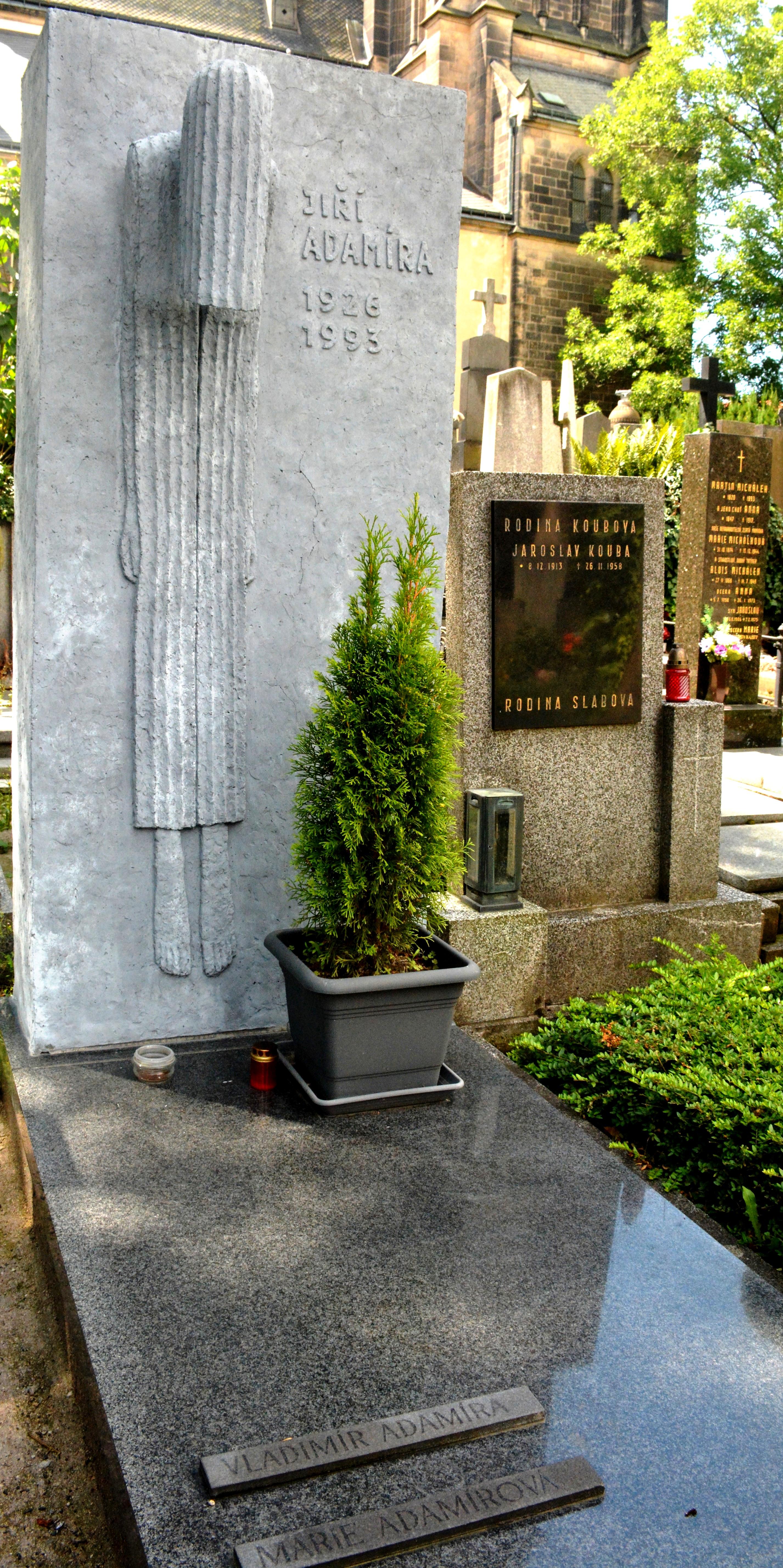Grave of Jiří Adamíra at [[Vyšehrad Cemetery