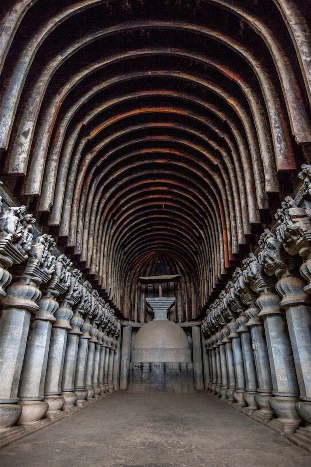 Chaitya (prayer hall) at Bhaja Caves