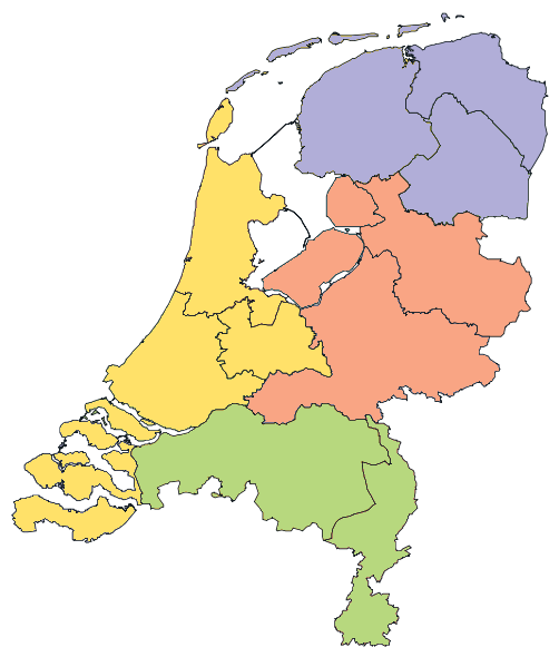 NUTS-1 regions of the Netherlands Landsdeel.png