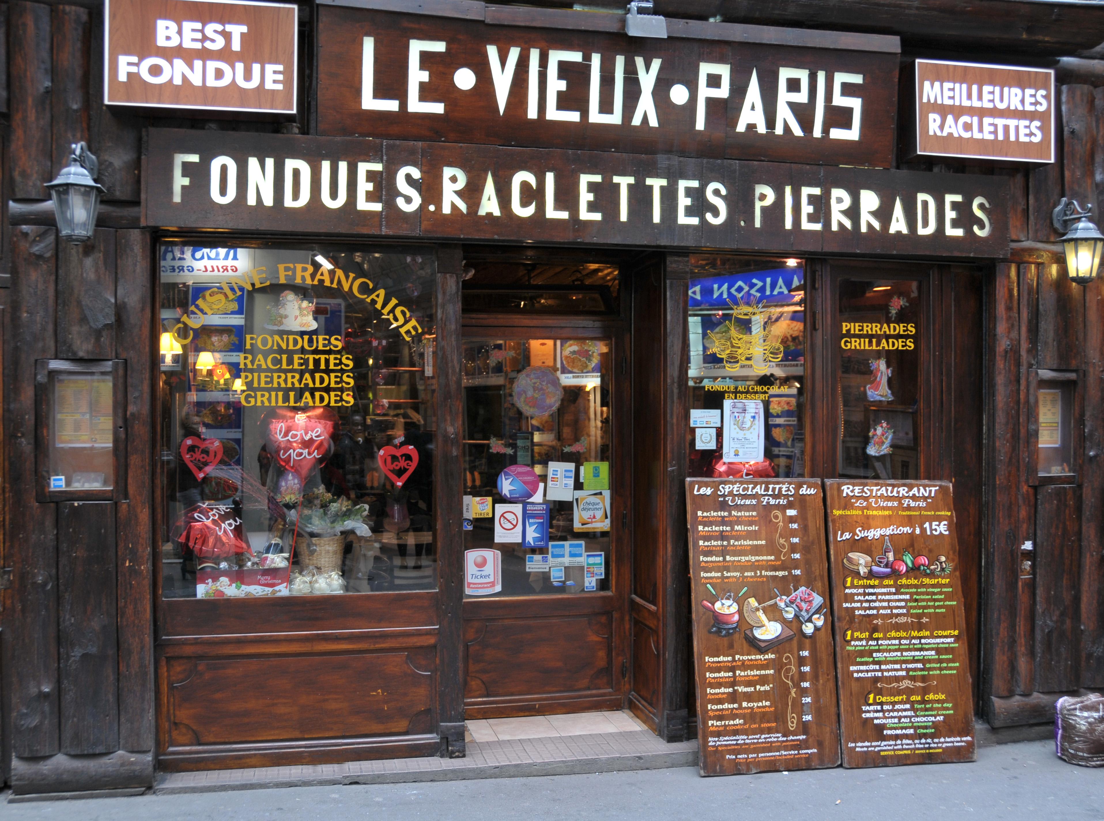 Le Vieux Paris Restaurant Fondue