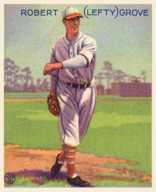 A 1933 Goudey baseball card of Grove. LeftyGroveGoudeycard.jpg