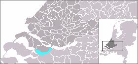 Volkerak body of water in the Netherlands