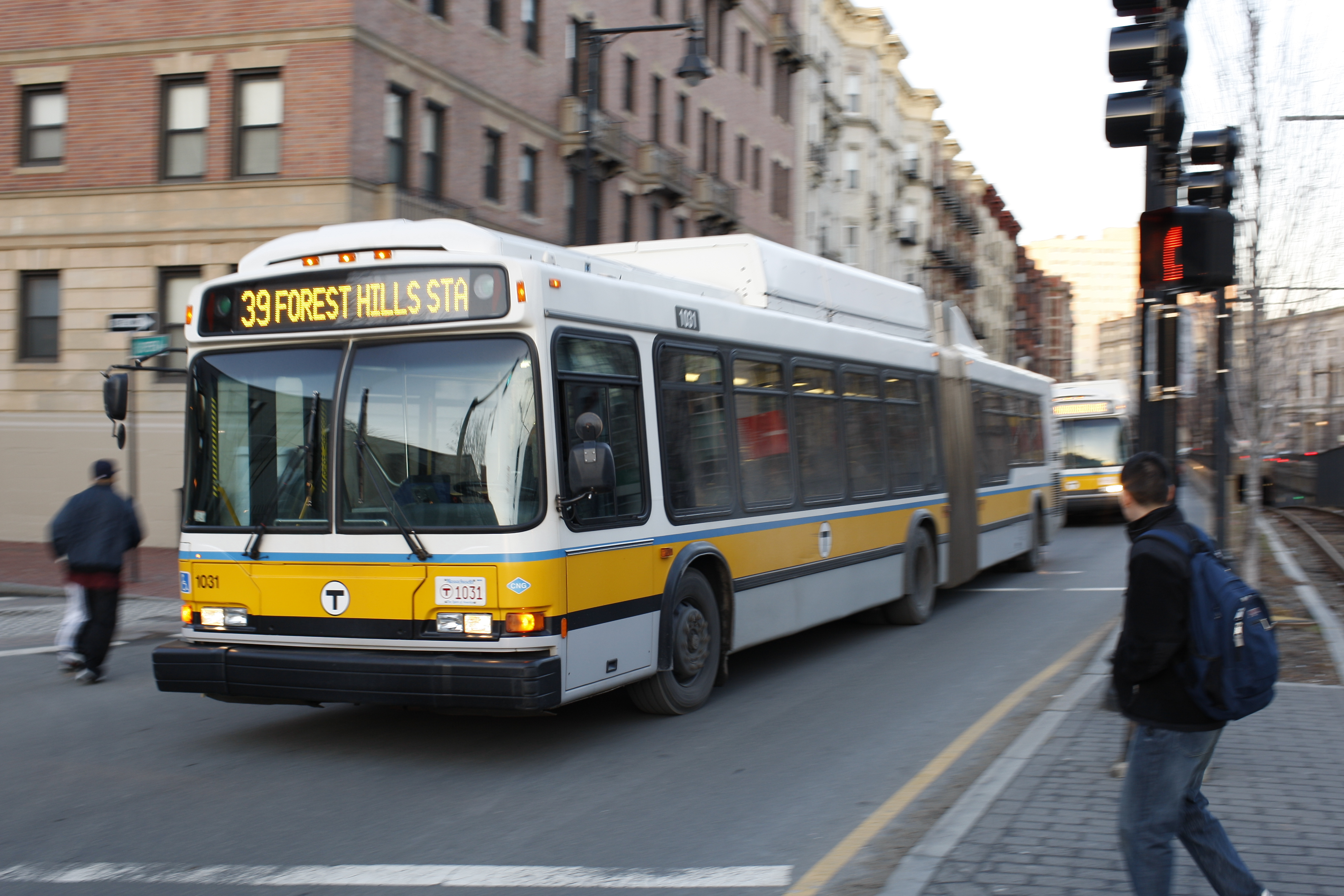 File Mbta Route 39 Bus At Northeastern 3 January 2008