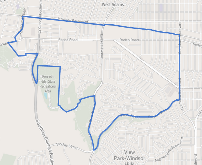 Baldwin Hills/Crenshaw, Los Angeles - Wikipedia on kenneth hahn recreation area of the map, salton sea state recreation area map, whittier narrows recreation area map, mount diablo map, auburn state recreation area map, hans peak colorado map, west hollywood map,