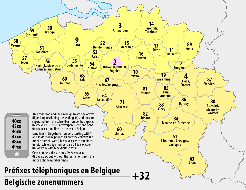 Telephone numbers in Belgium - Wikipedia