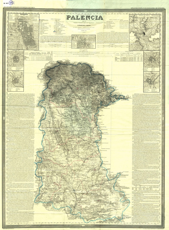 File Mapa De La Provincia De Palencia 1852 Por Francisco Coello