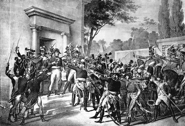 Встреча Наполеона с генералами утром 18 брюмера. Мотте (1826)