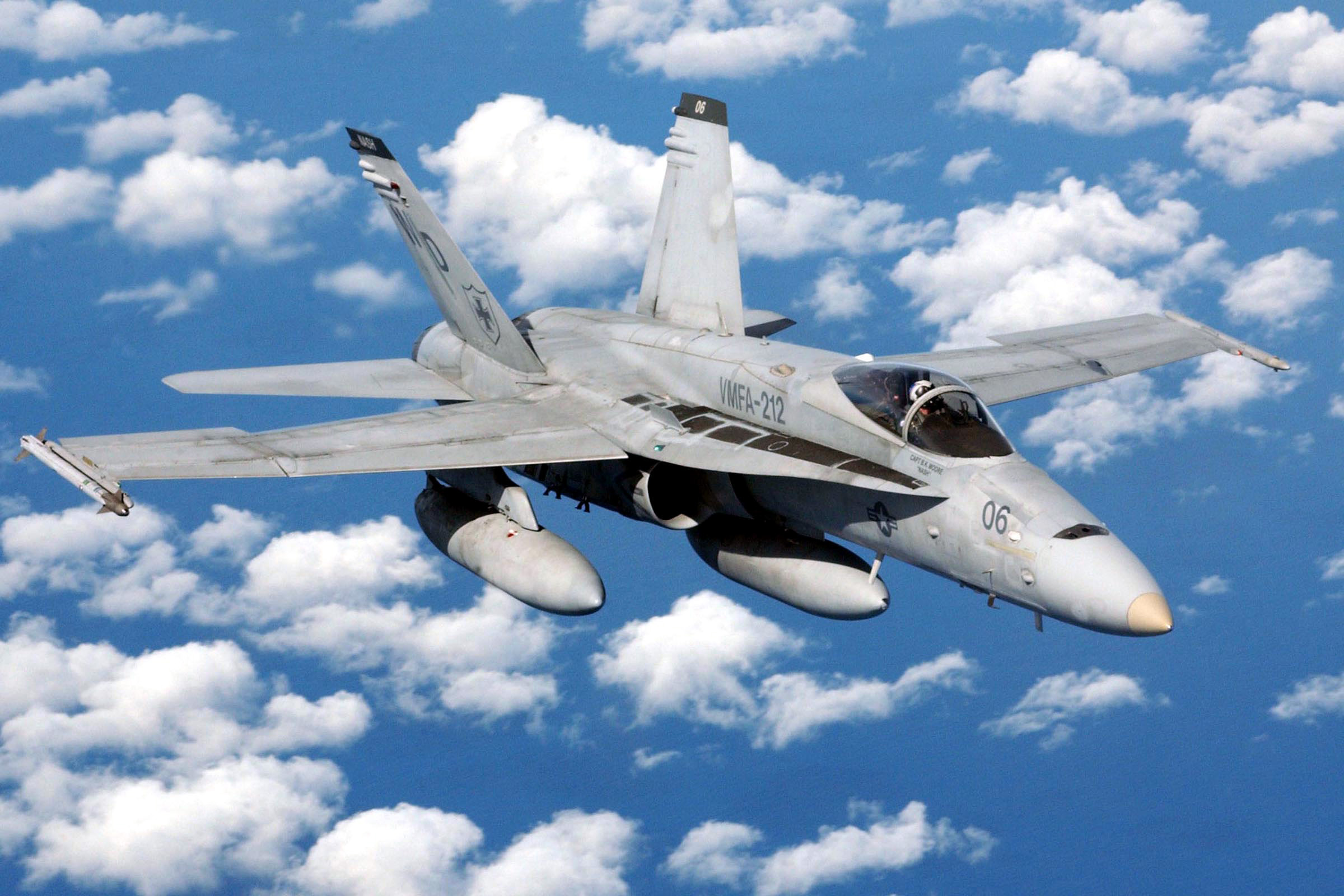 Depiction of McDonnell Douglas F/A-18 Hornet