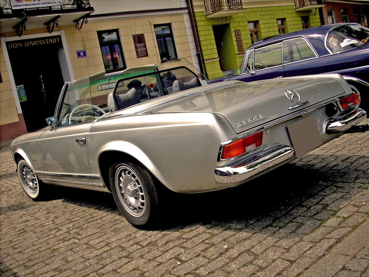 plik mercedes benz w113 rear jpg wikipedia wolna
