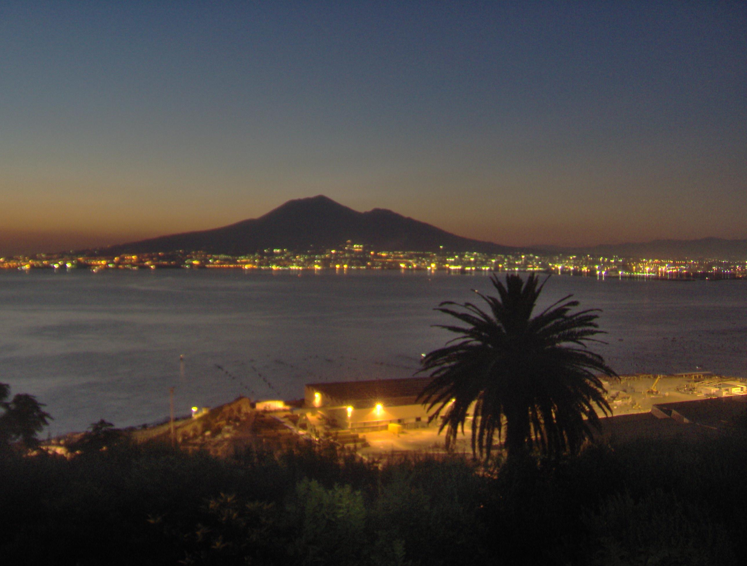 Mt Vesuvius on fire