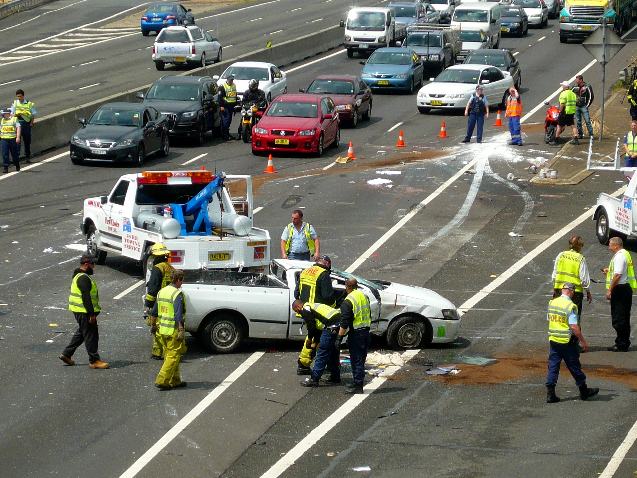 Fasciculus:Multi vehicle accident - M4 Motorway, Sydney, NSW