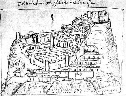 Medina sidonia dibujo siglo xvi_de wikimedia