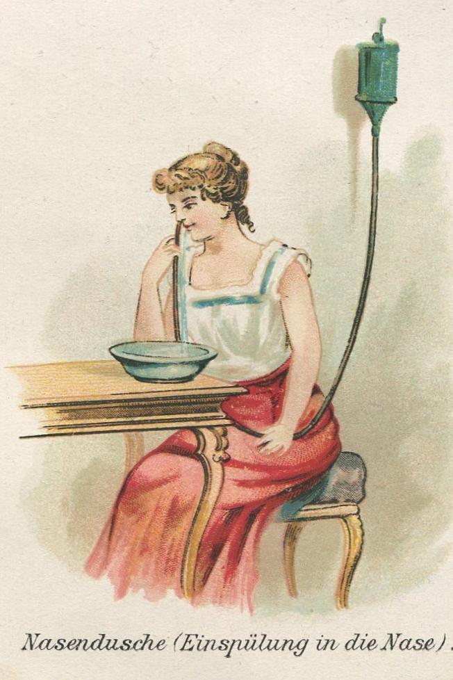 Doccia nasale, 1898