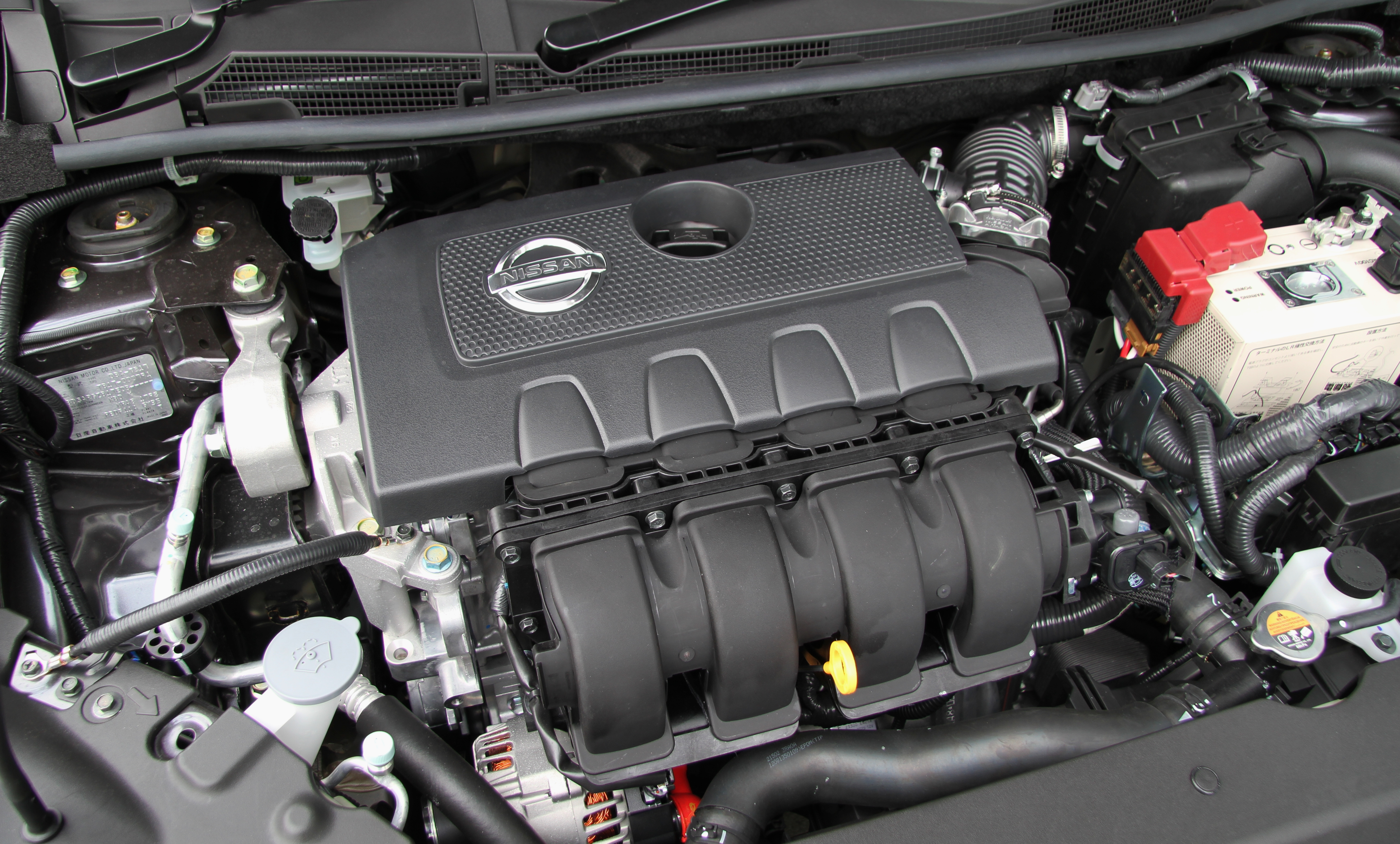 File Nissan Sylphy B17 Engine Room Jpg Wikimedia Commons