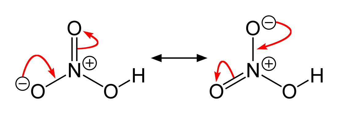 Structural formula nitric acid