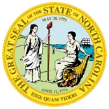 The North Carolina state seal.