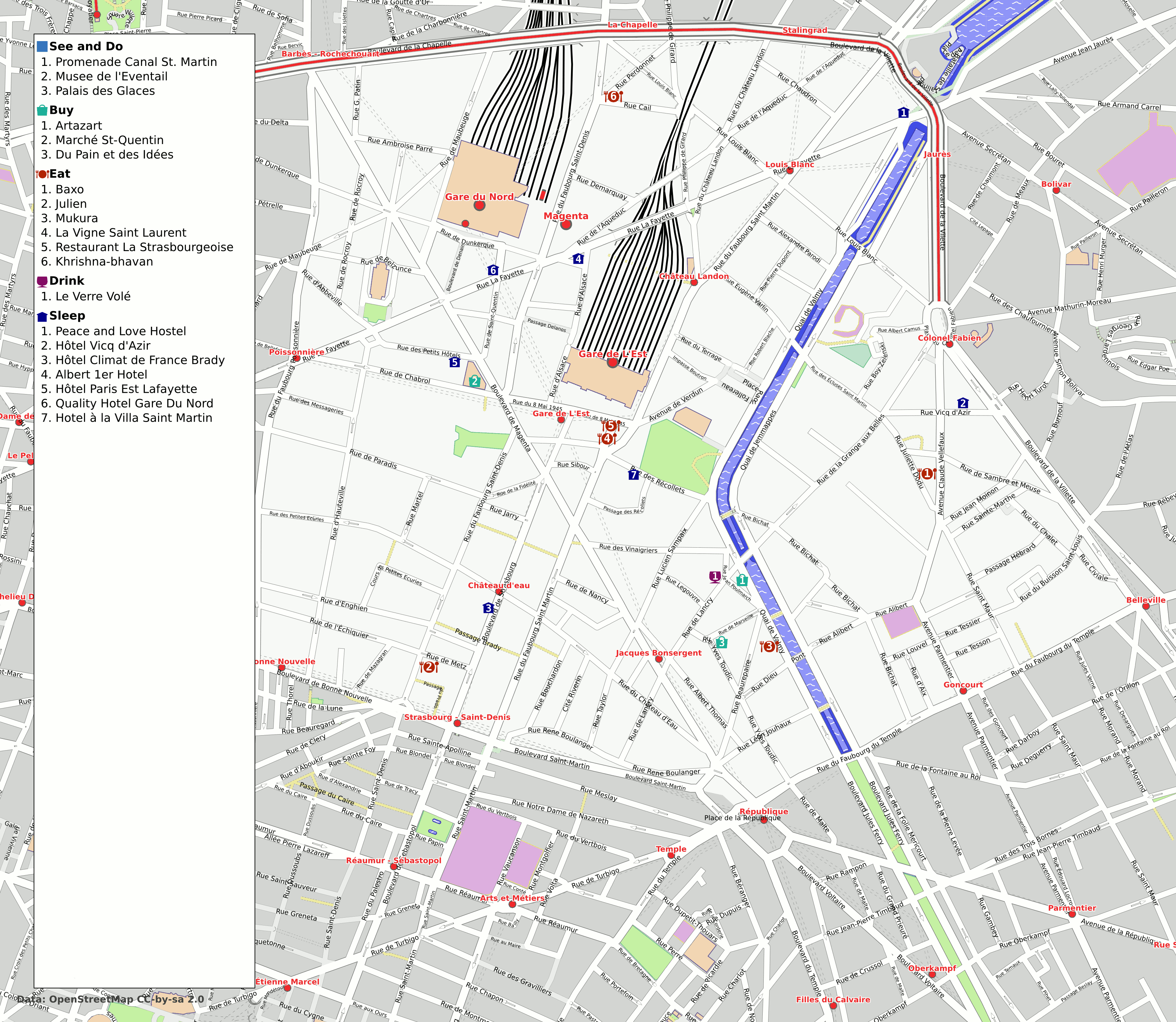 File Paris 10th Arrondissement Map With Listings Png Wikimedia Commons