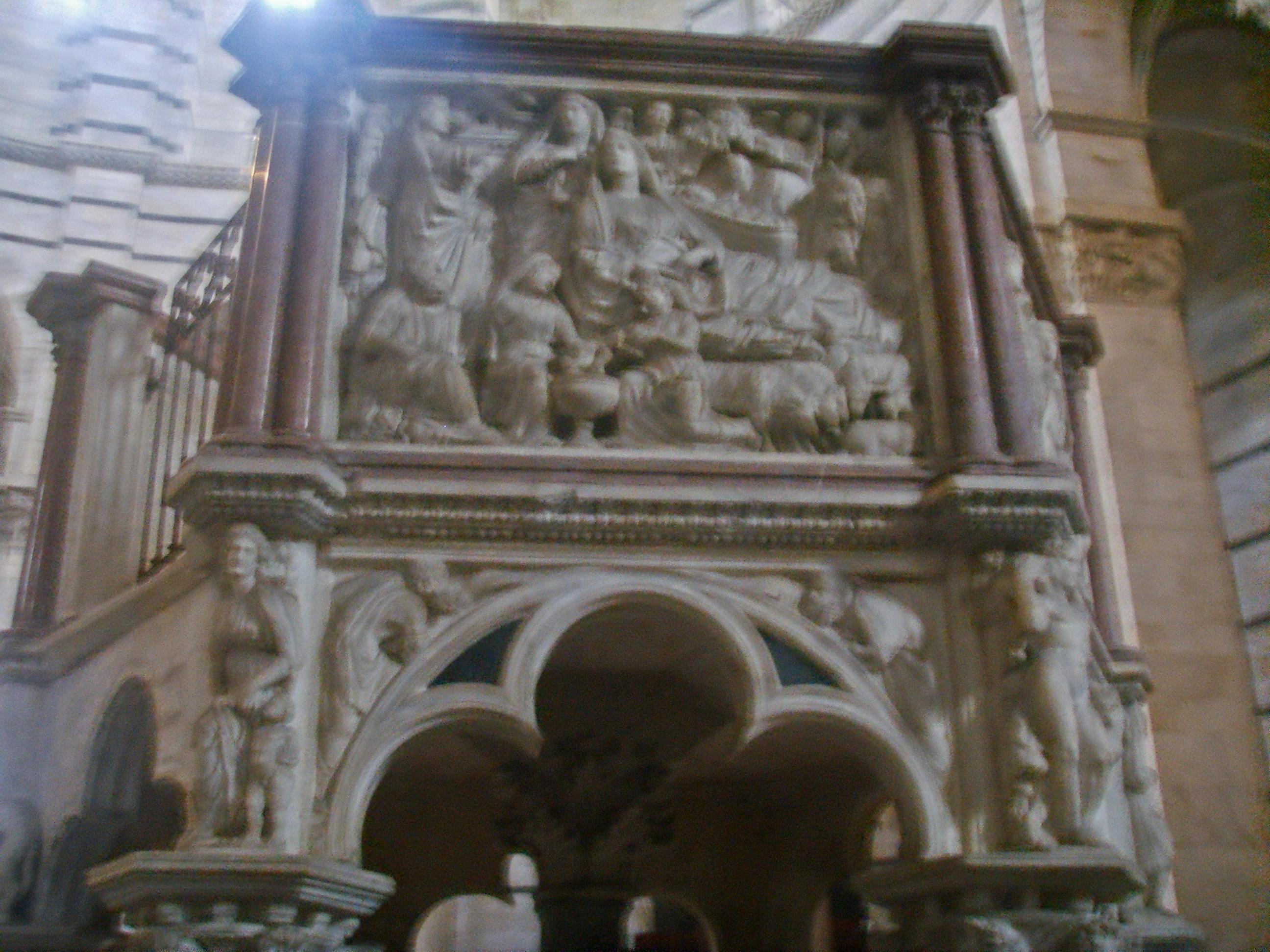 File:Pisa, battistero, pulpito di Nicola Pisano, 2.JPG ...