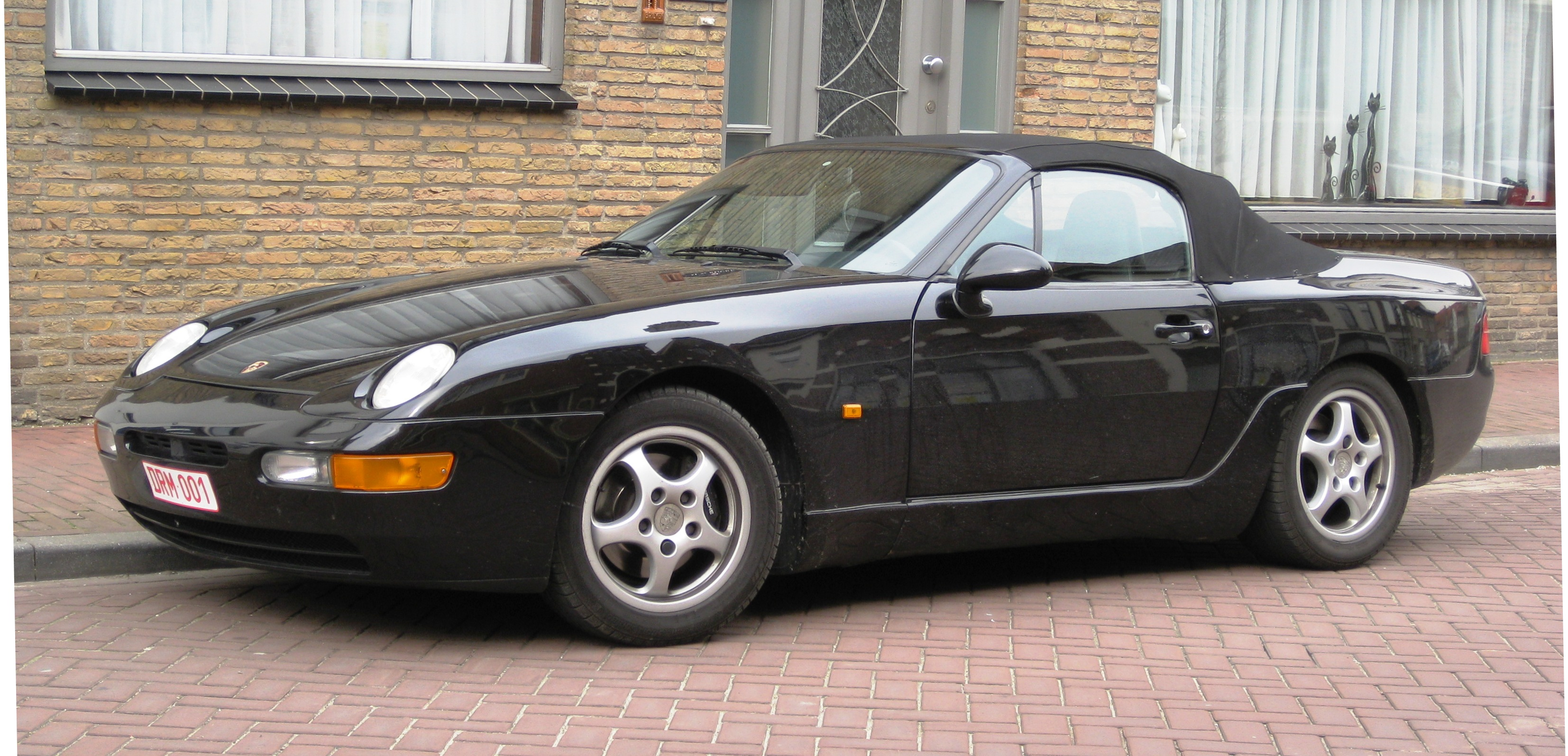 file:porsche 968 cabriolet front three quarters aardenburg