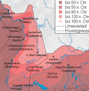 Römische Expansion in Südwestdeutschland