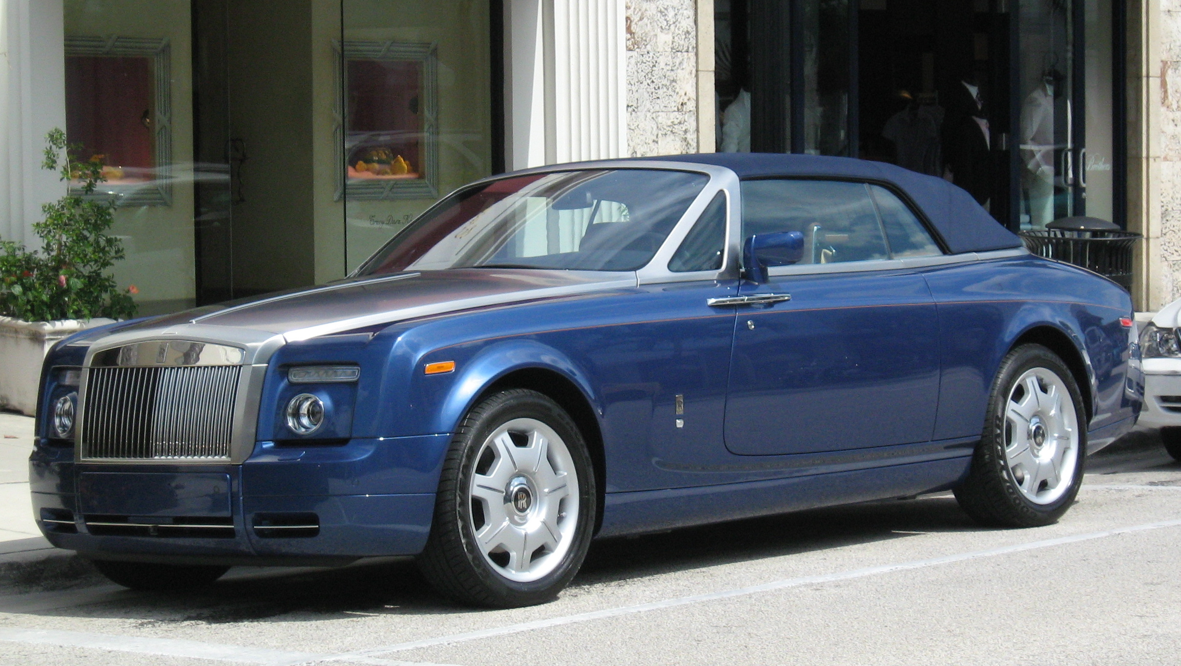 File Rolls Royce Blue Convertible Palm Beach Fl 1 Jpg