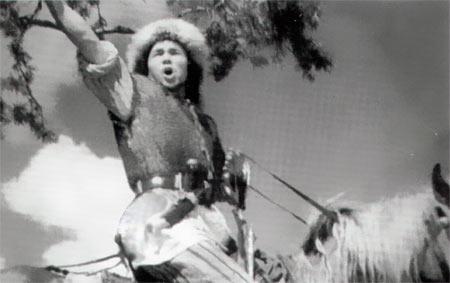 Арслан Мубаряков в роли Салавата Юлаева. Кадр из кинофильма «Салават Юлаев» (1940)