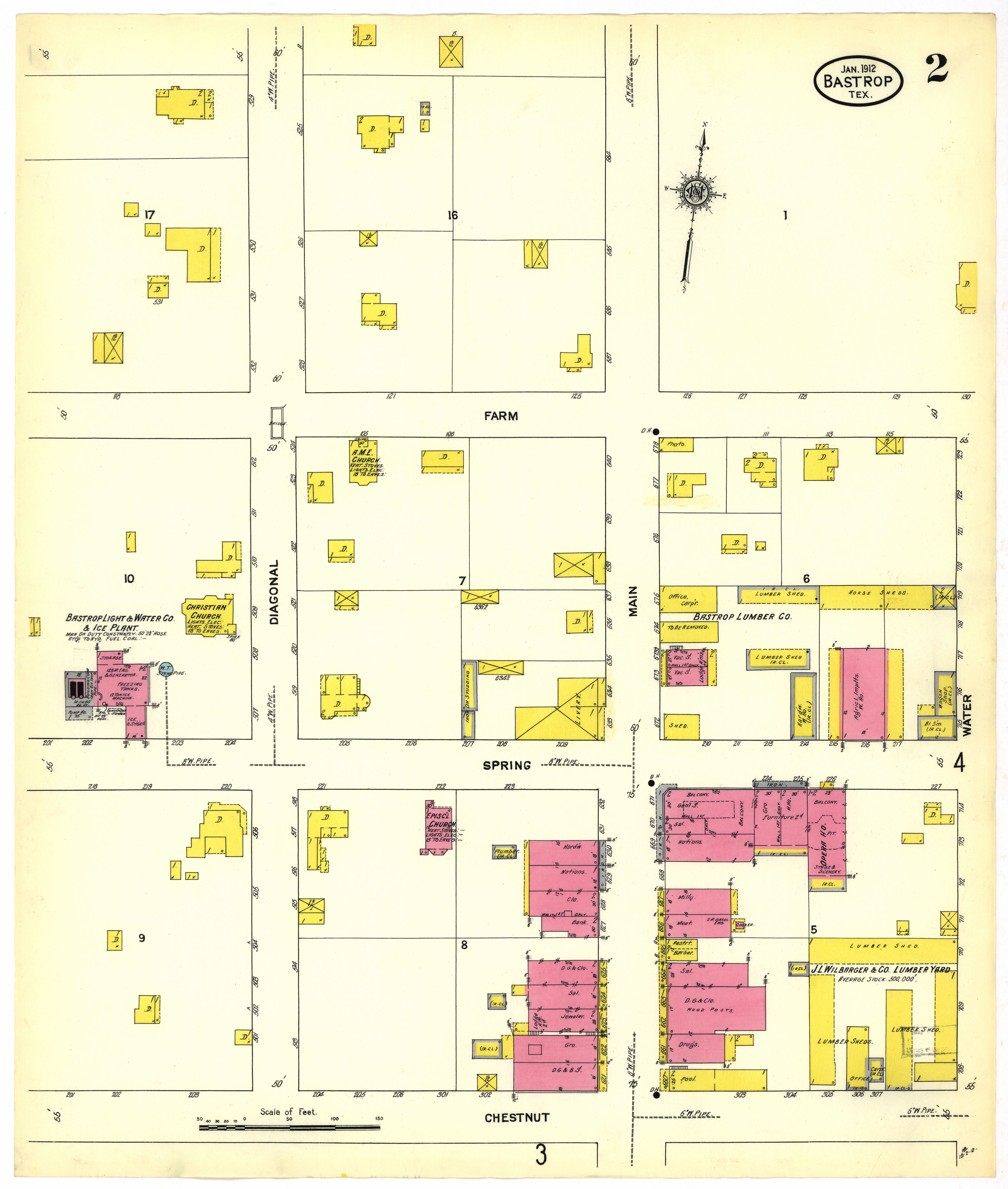 File Sanborn Fire Insurance Map From Bastrop Bastrop County