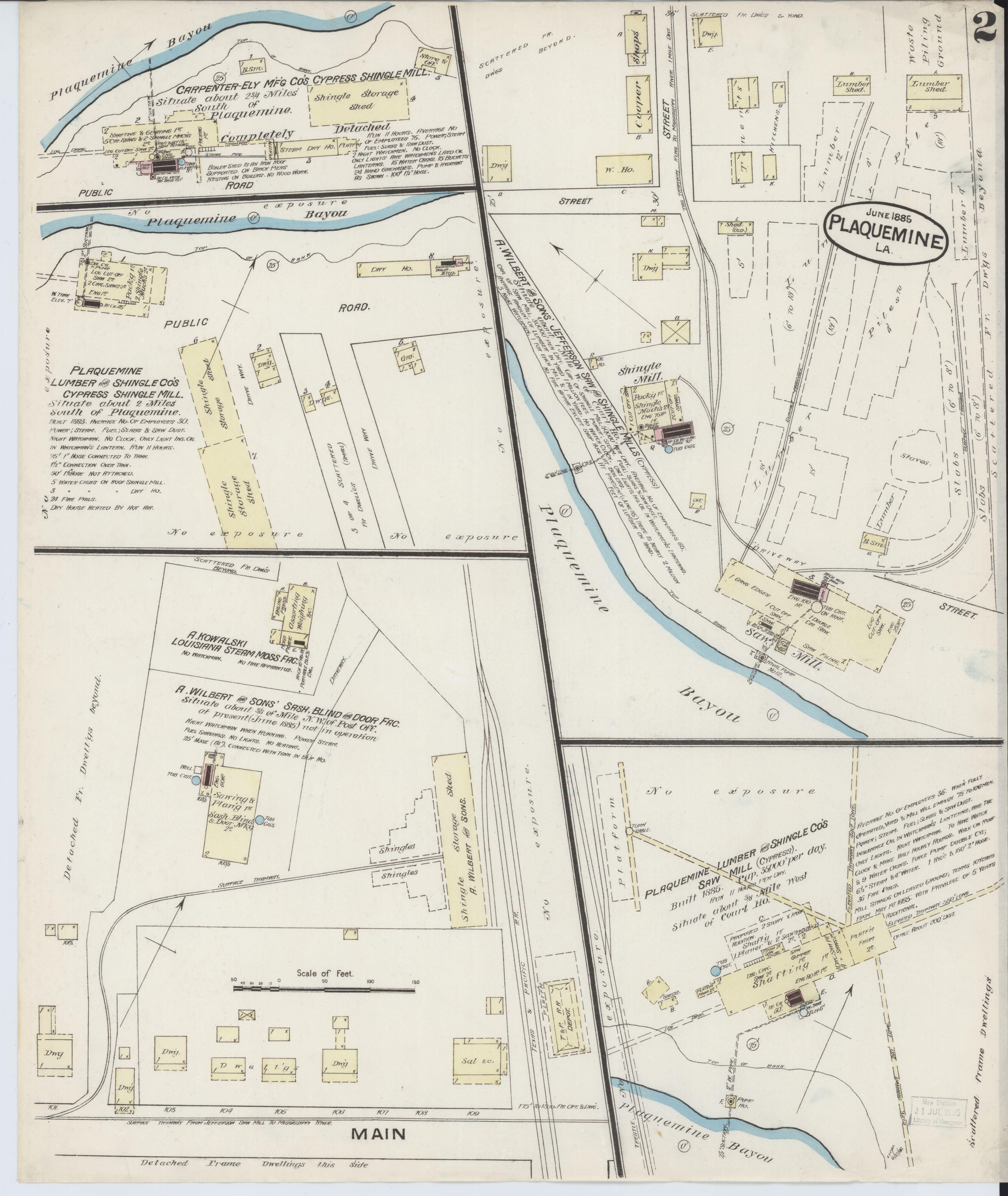 I 20 Louisiana Map.File Sanborn Fire Insurance Map From Plaquemine Iberville Parish