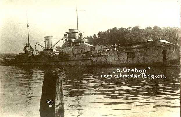 Sms goeben beached