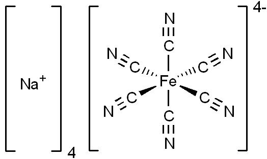 Sodium Ferrocyanide Wikipedia