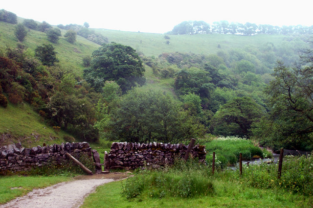 South from near the junction of Biggin Dale and Wolfscote Dale - geograph.org.uk - 1343735