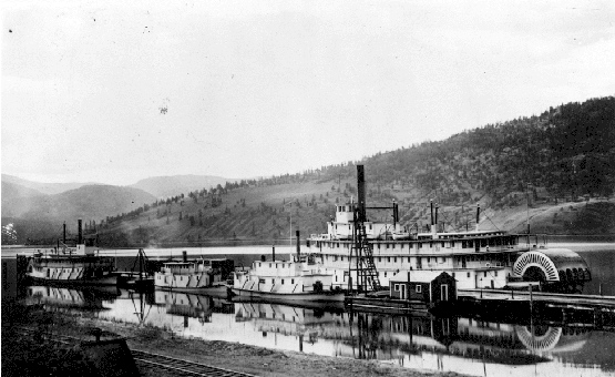 Steamboats at Okanagan Landing, 1916