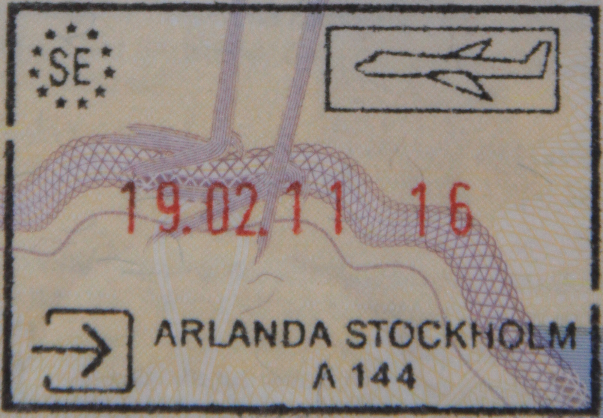 Image result for swedish passport stamp