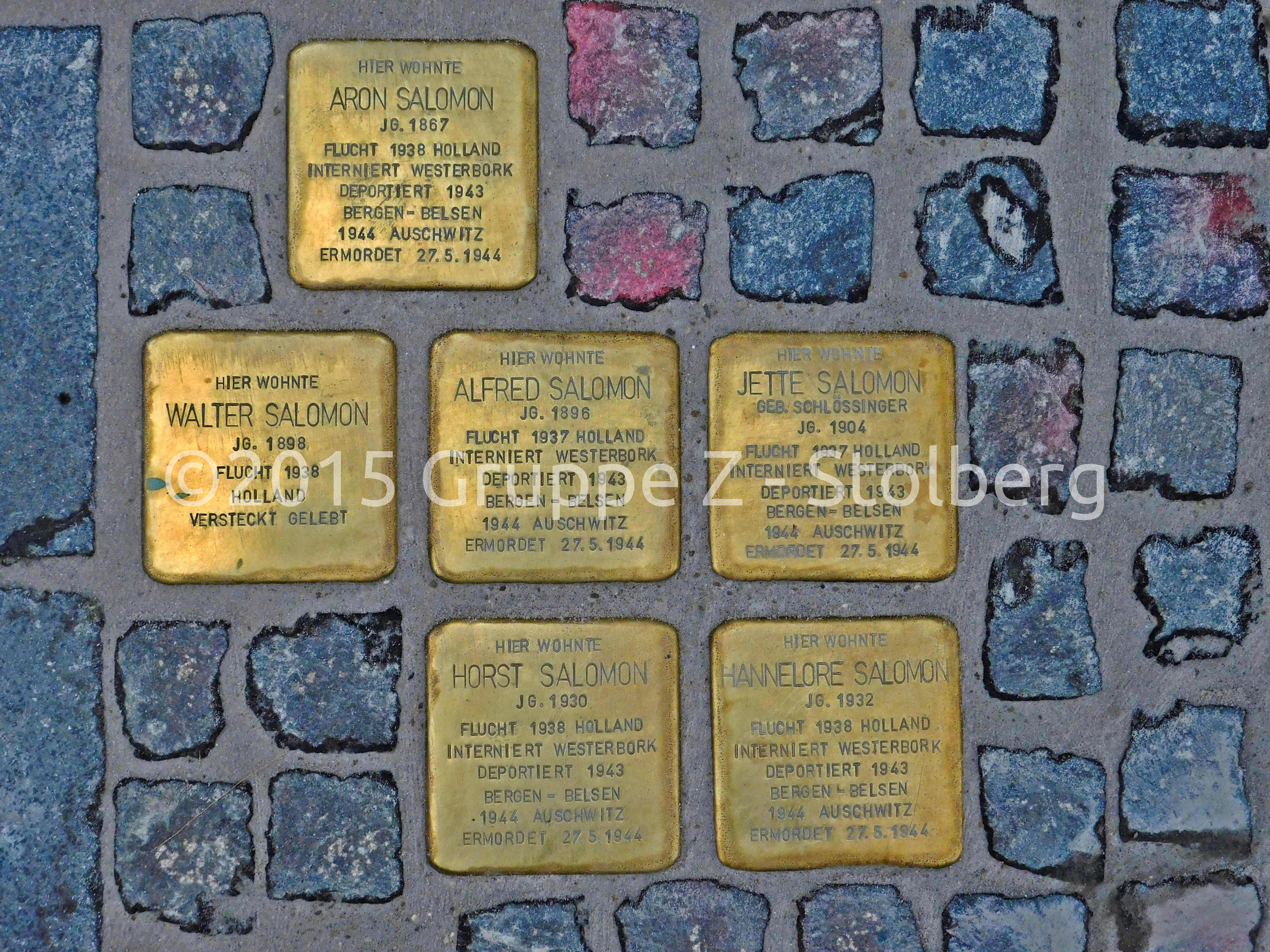 Datei:Stolpersteine Familie Salomon Stolberg.jpg – Wikipedia